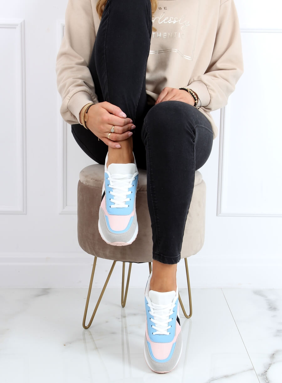 Viacfarebná športová obuv -ružová