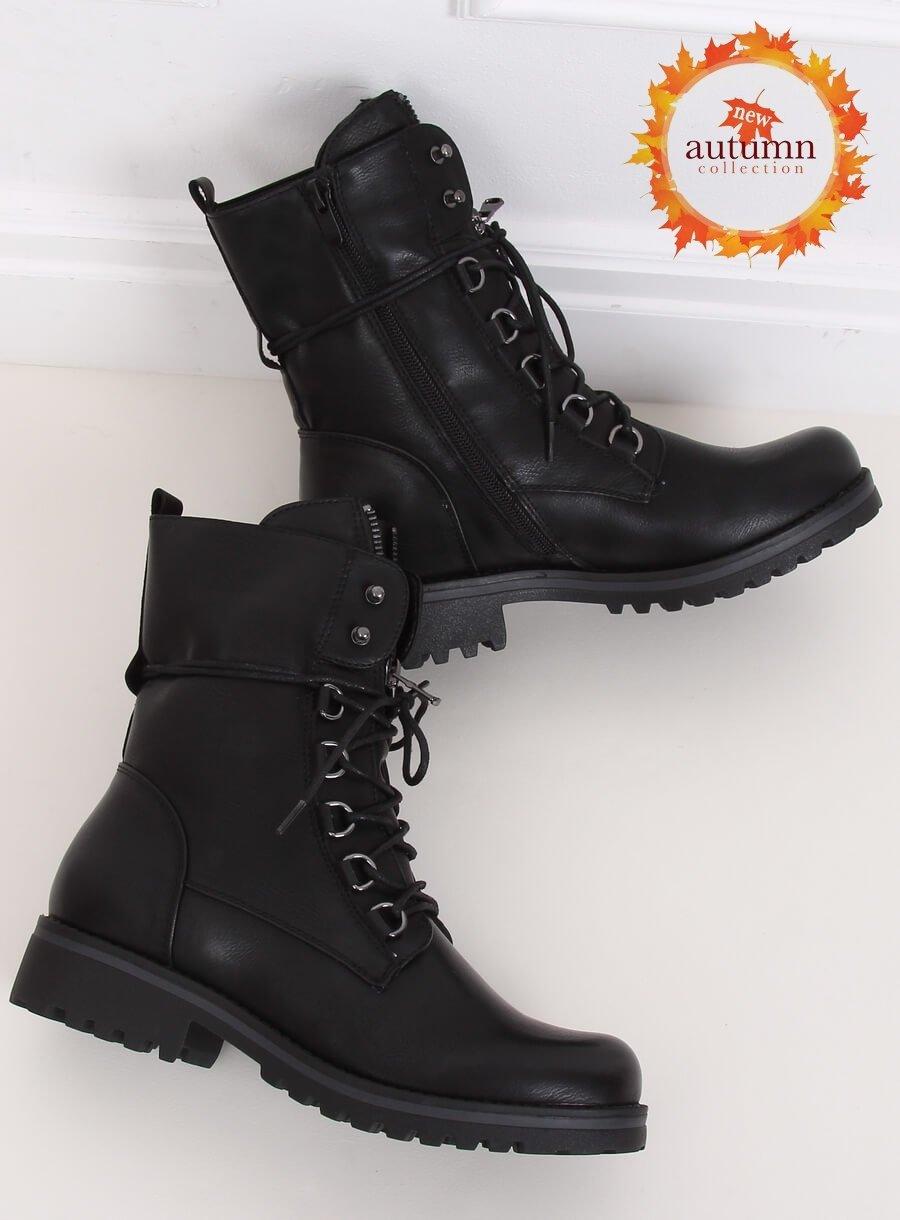 Vojenské čierna topánky