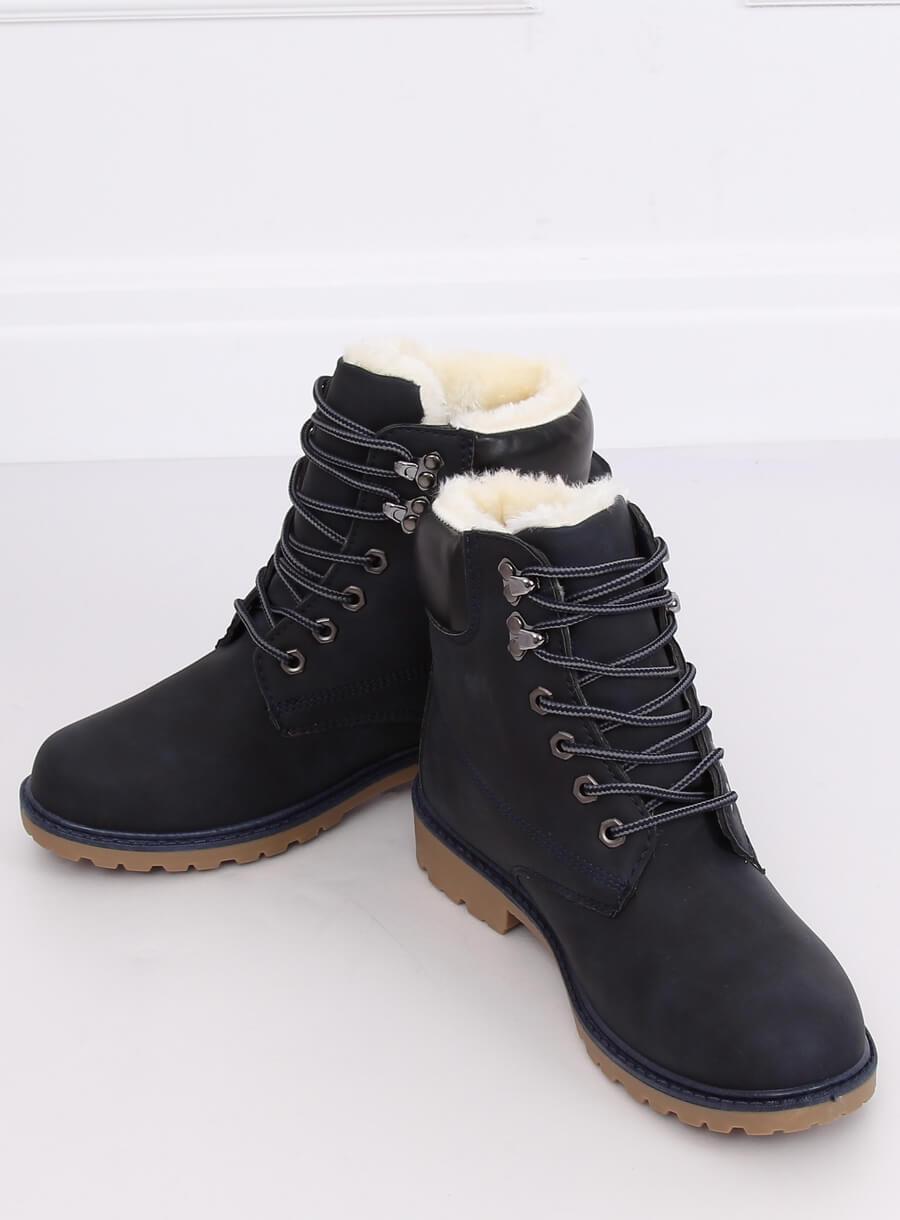 Námornícko modré dámské zateplené topánky