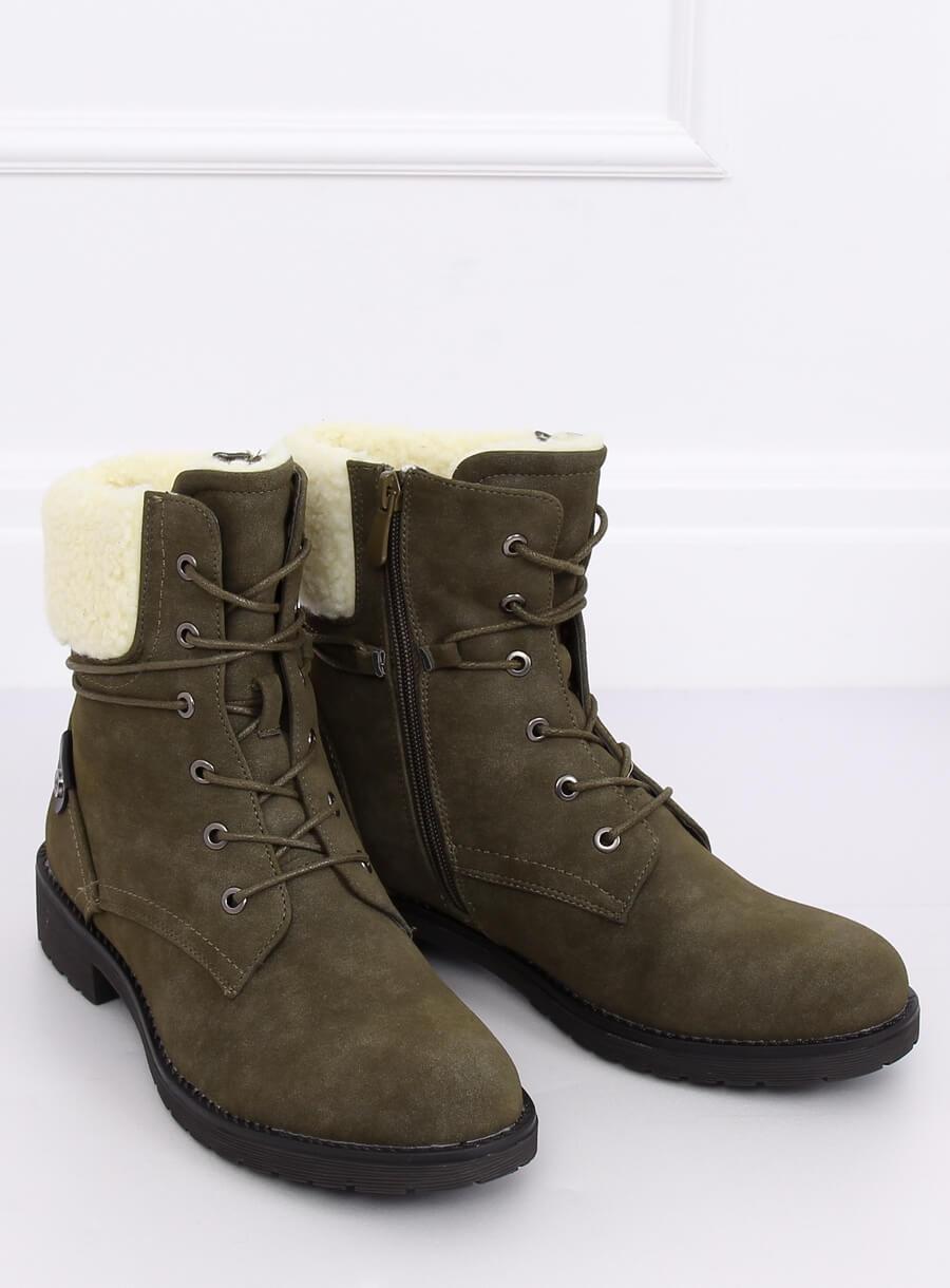 Zelené topánky s kožúškom