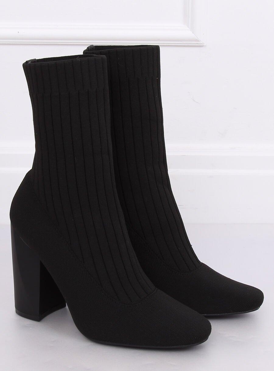 Ponožkové čižmičky čierne