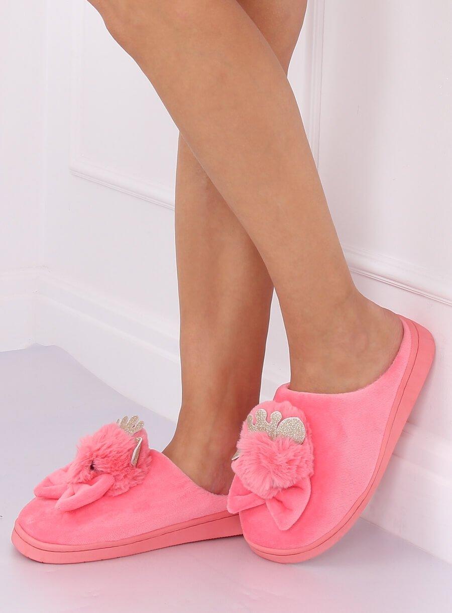 Papuče kohút tmavo ružové