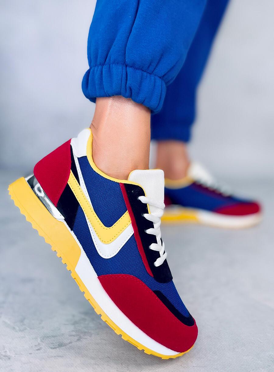 Viacfarebná športová obuv- modrá