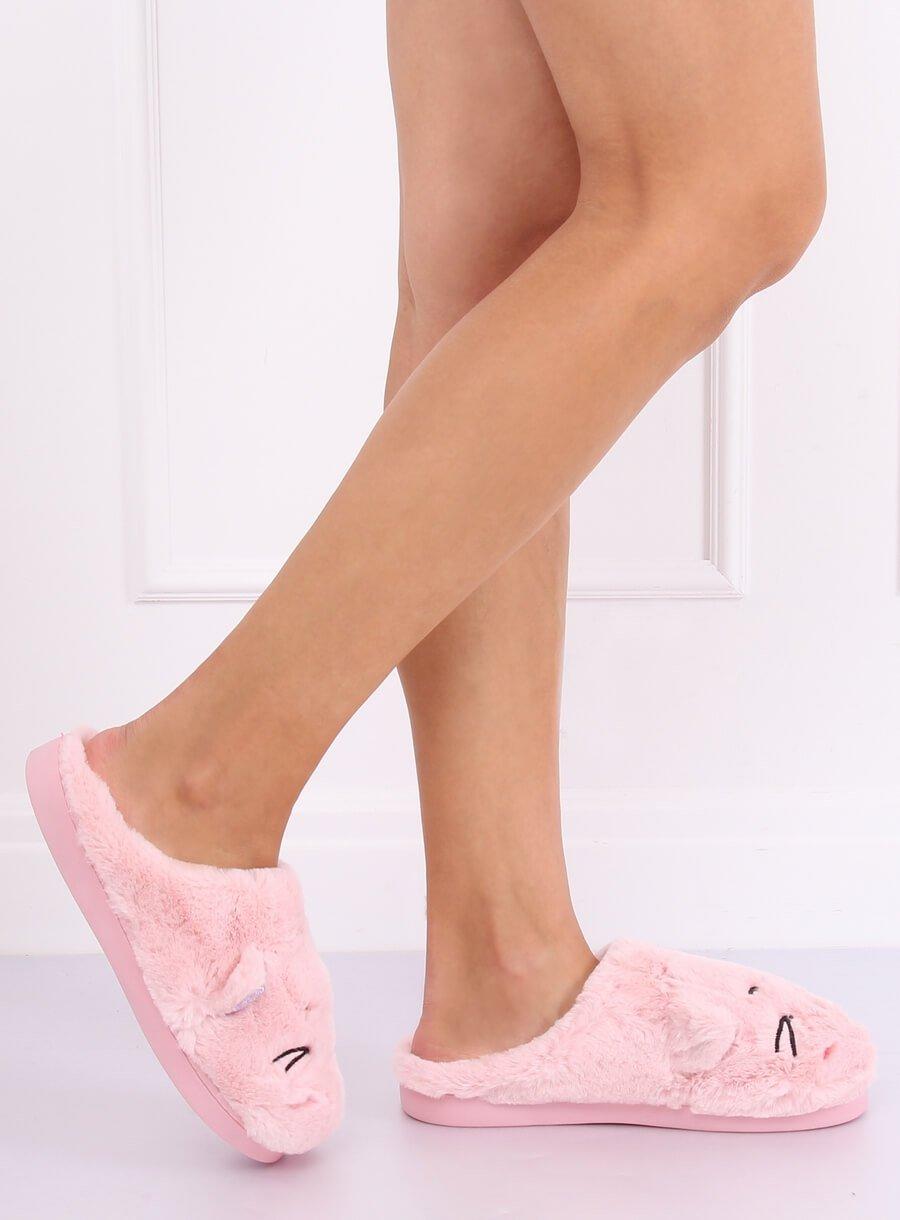 Papuče mačička ružové
