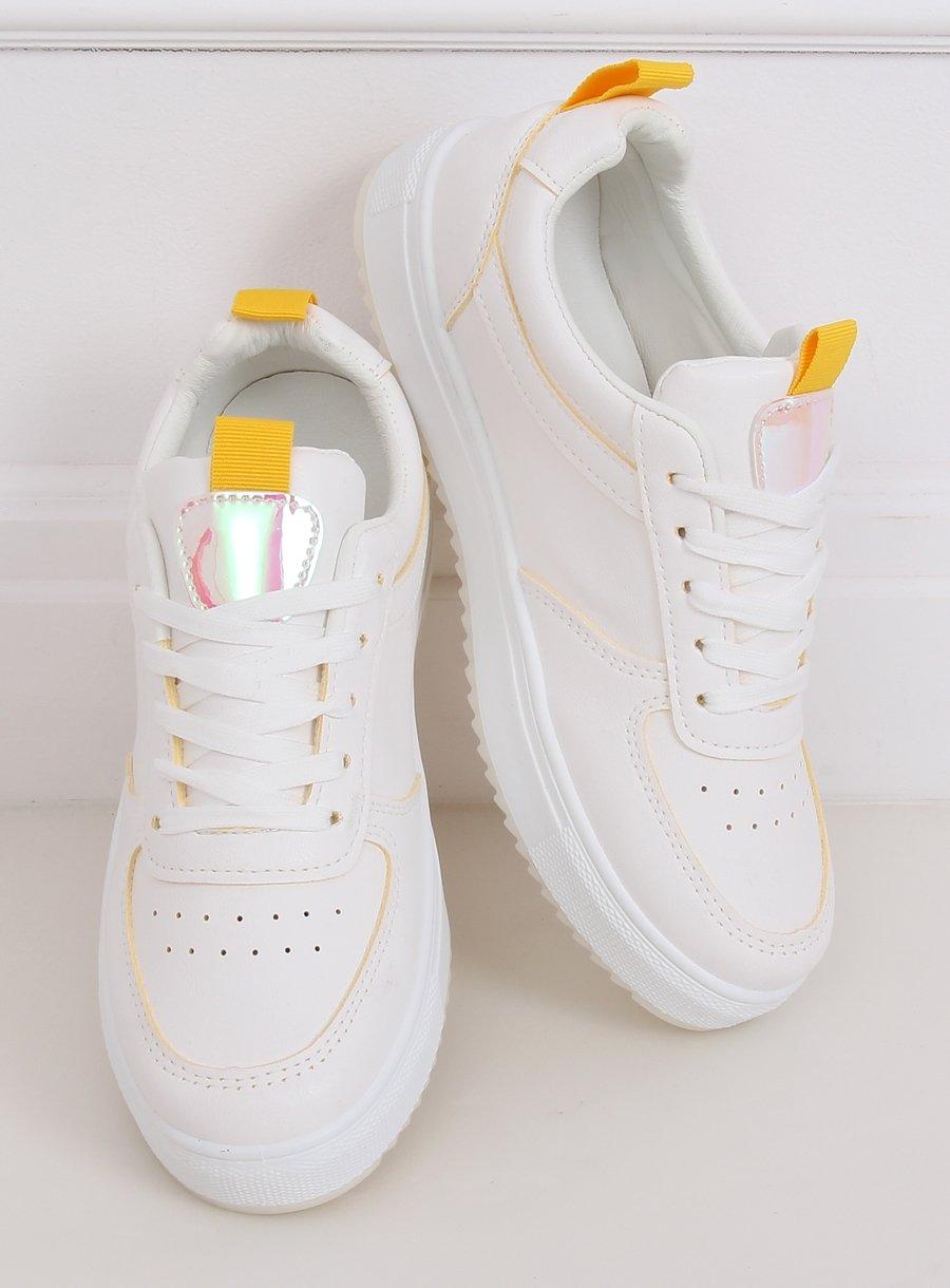 Dámska športová obuv bielo/žltá
