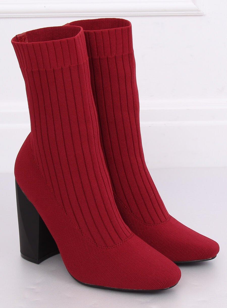 Ponožkové čižmičky červené
