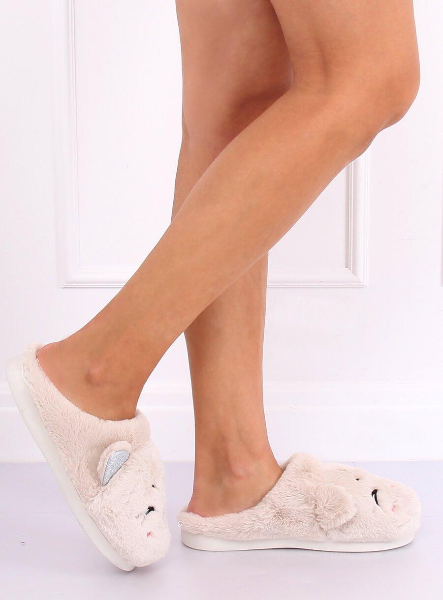 Papuče mačička biele