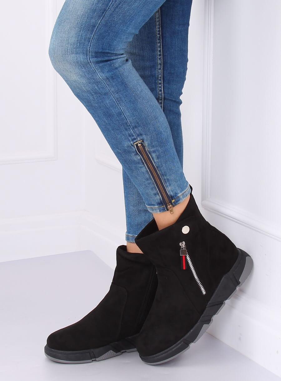 Elegantné čižmy čierne