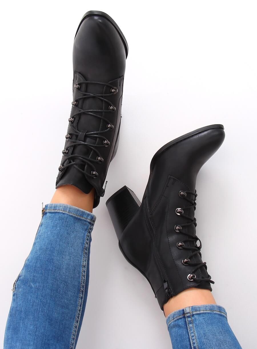 Šnurovacie topánky čierne