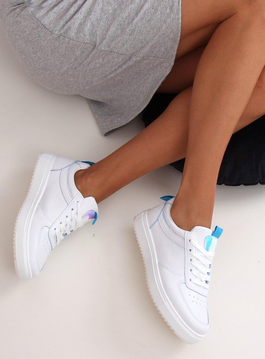 Dámska športová obuv bielo/modrá