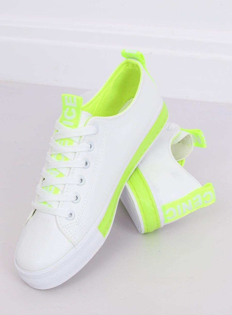 Tenisky bielo-zelené A88-23 GREEN veľ. 39