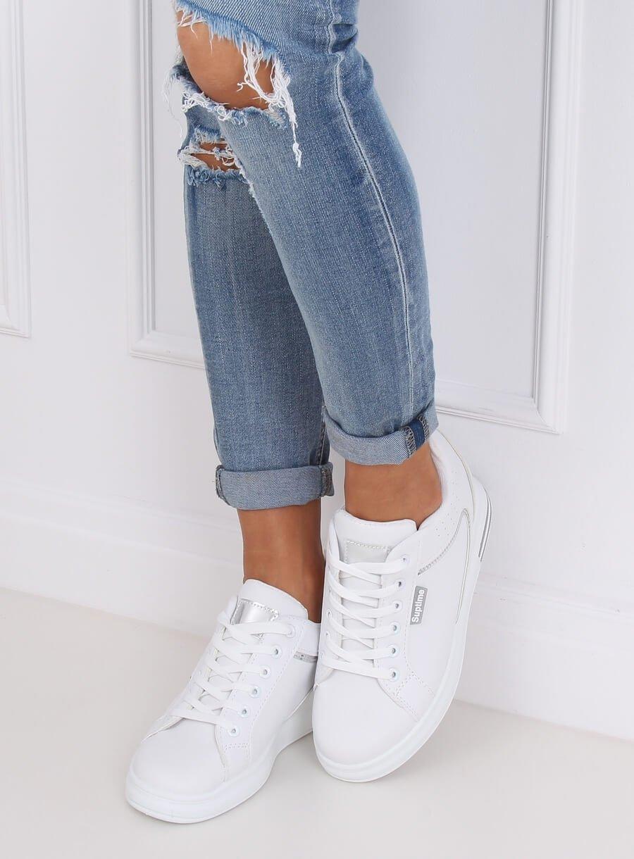 Bielo/ šedá športová  obuv