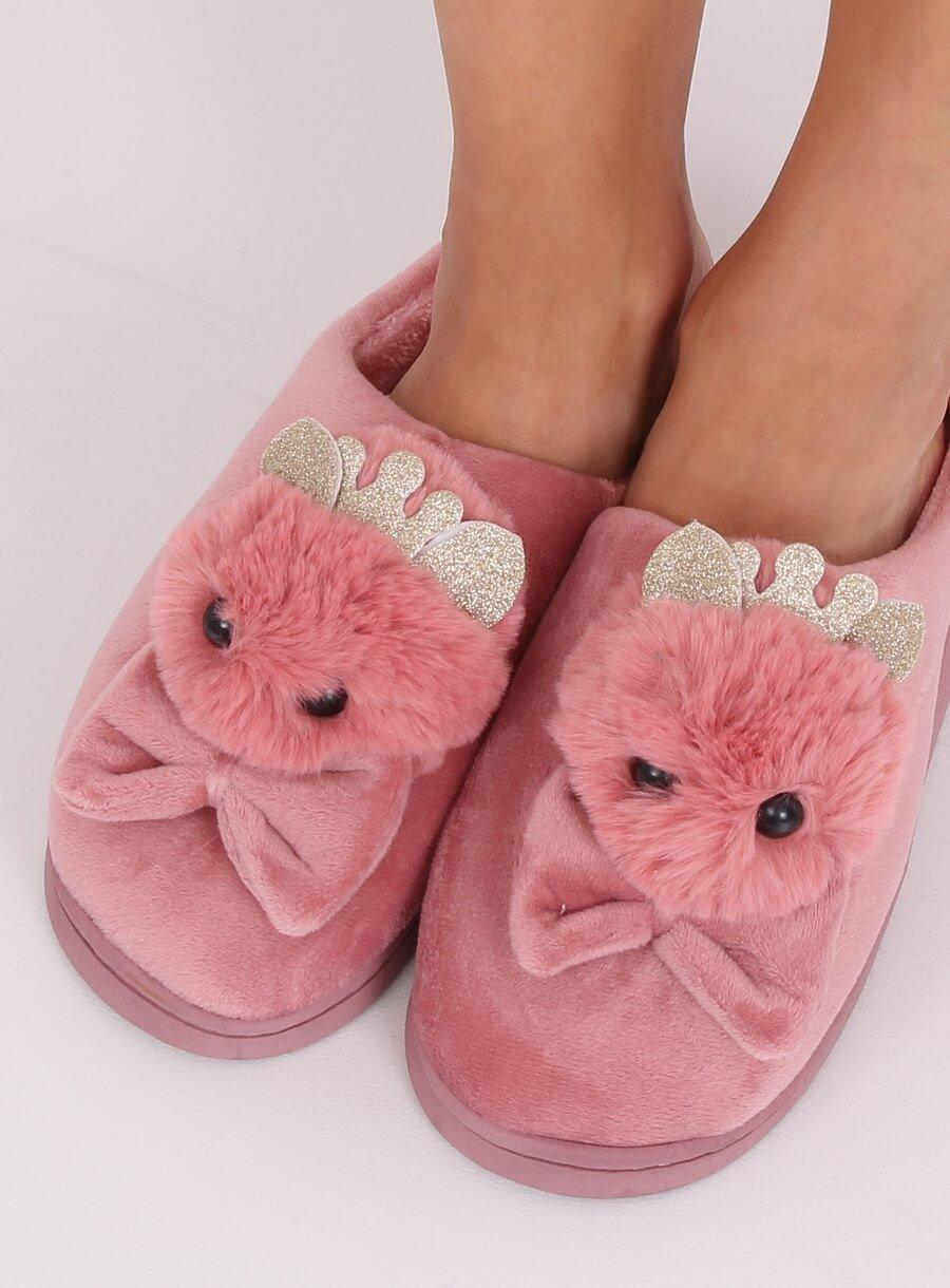 Papuče kohút ružové