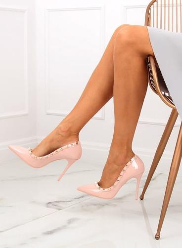 33fdf885 Czółenka na szpilce Valentina różowe LL-76P Pink