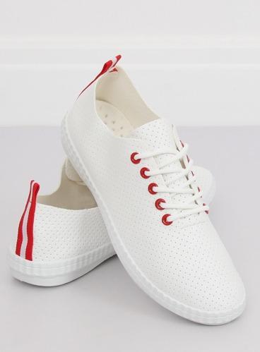 1ffc3d9e63de9 Trampki damskie biało-czerwone B111-17 WHITE/RED