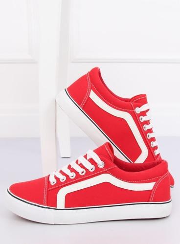 f55bfa170ce2e Trampki damskie czerwone BL117P RED