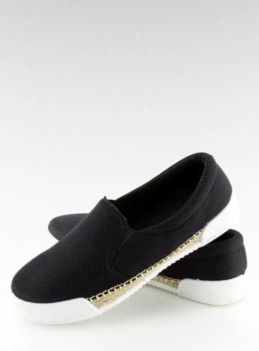 Trampki slip-on czarne 15691A BLACK
