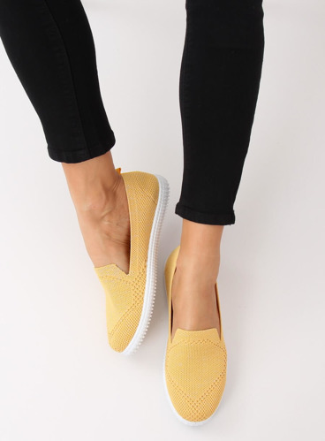Trampki slip-on żółte 784 YELLOW