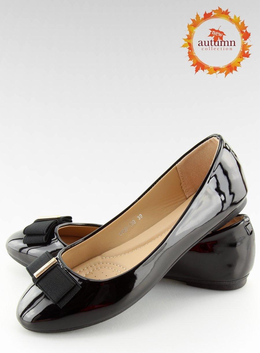 e12e96513709df Balerinki damskie czarne 9988-130 BLACK   Sklep KupButy.com