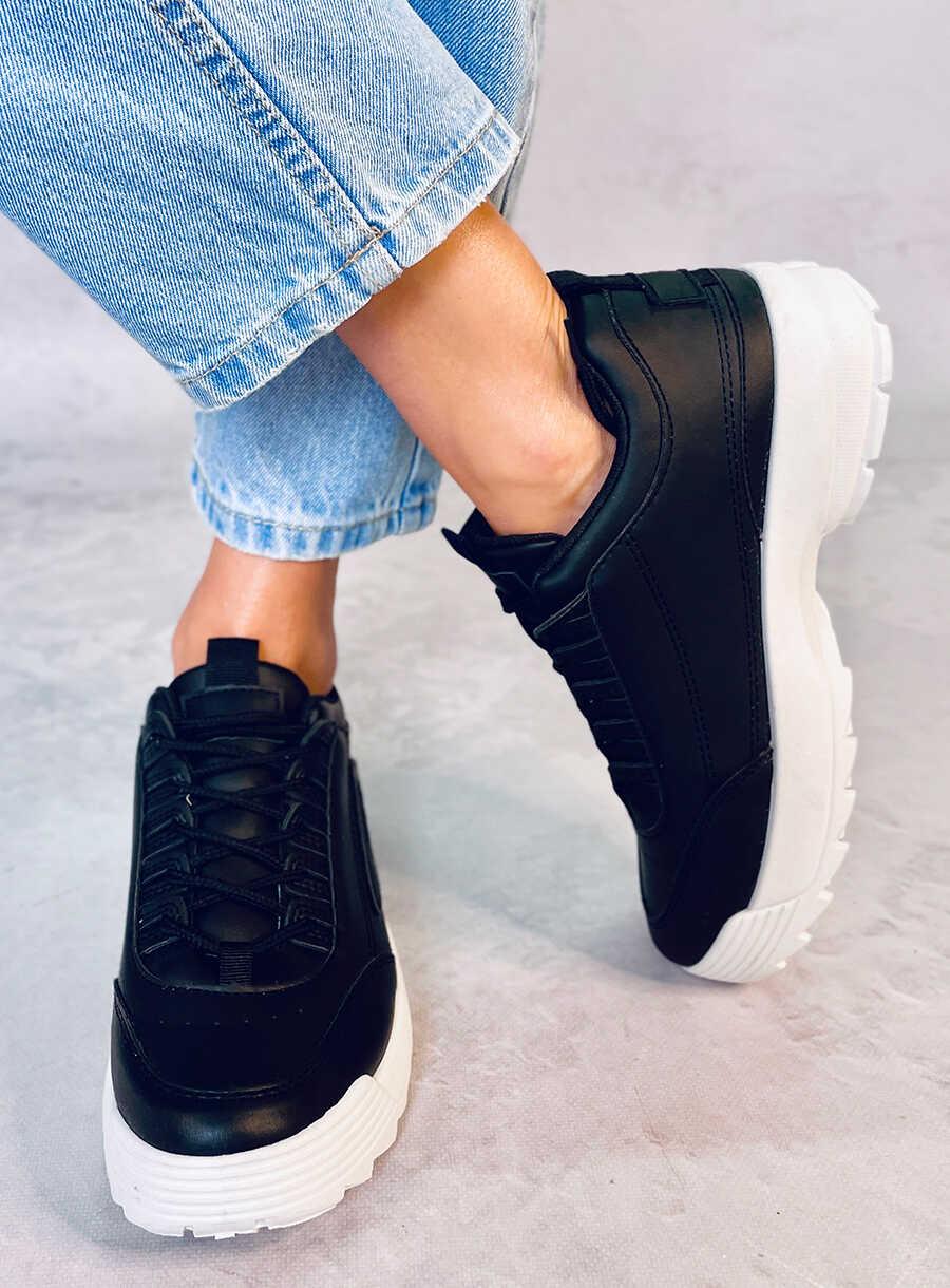Buty sportowe czarne BL153P BLACK | Sklep