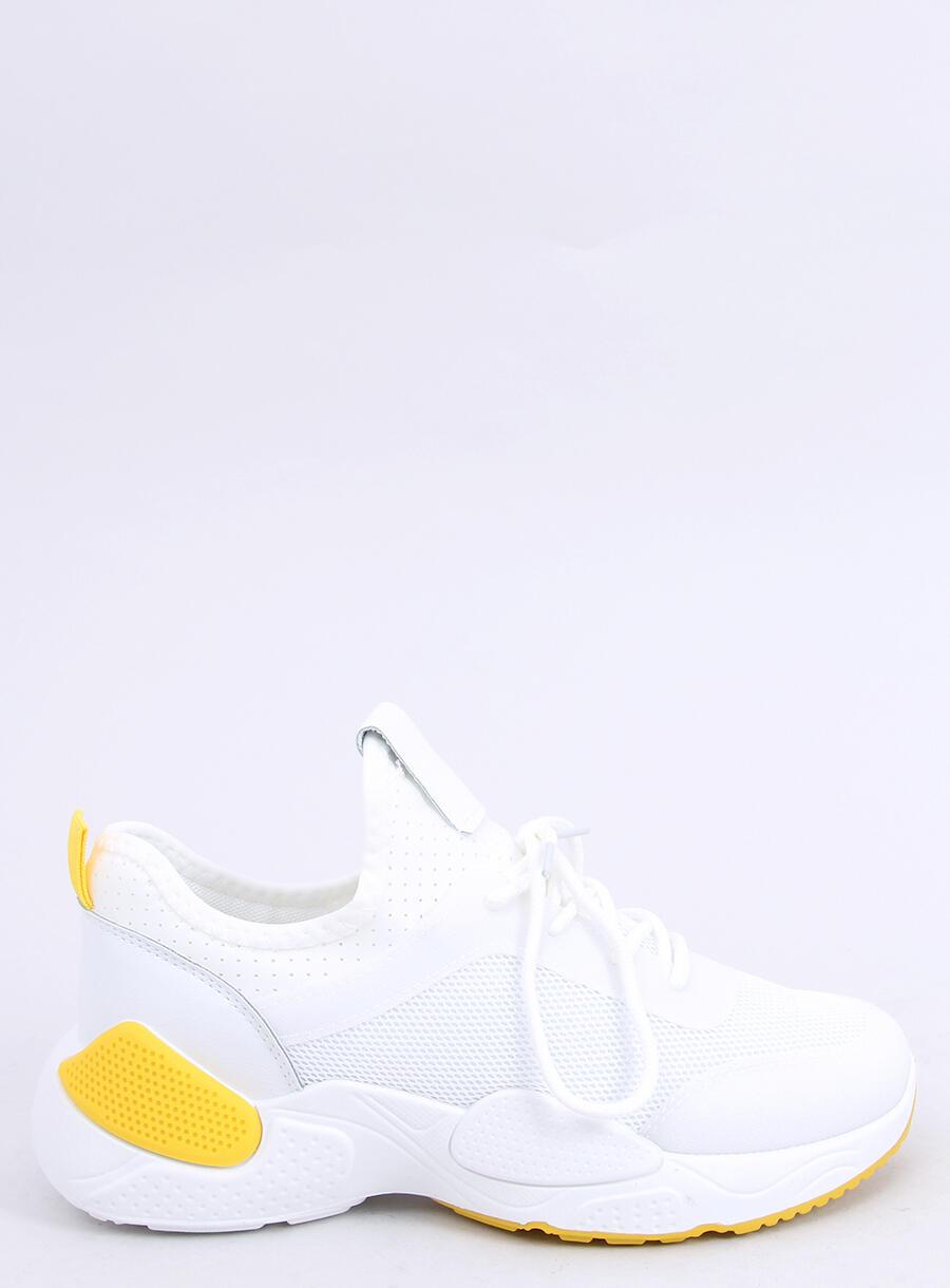 Buty sportowe z siateczką białe B0 547 YELLOW | Sklep
