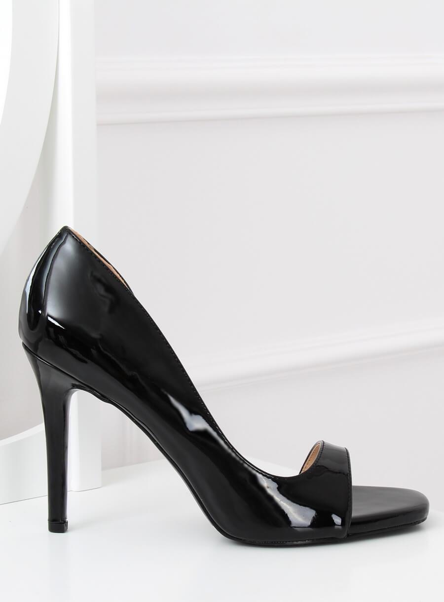 7e37d5580cdb0 Czółenka open toe czarne G70273 BLACK | Sklep KupButy.com