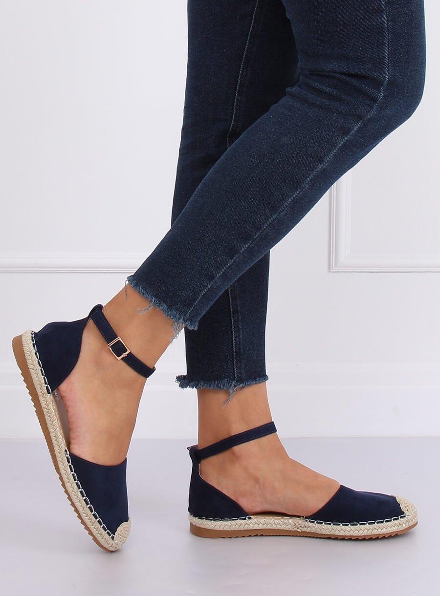 Espadryle Damskie Cross Jeans Czarne DD2R4106 | Tanie i