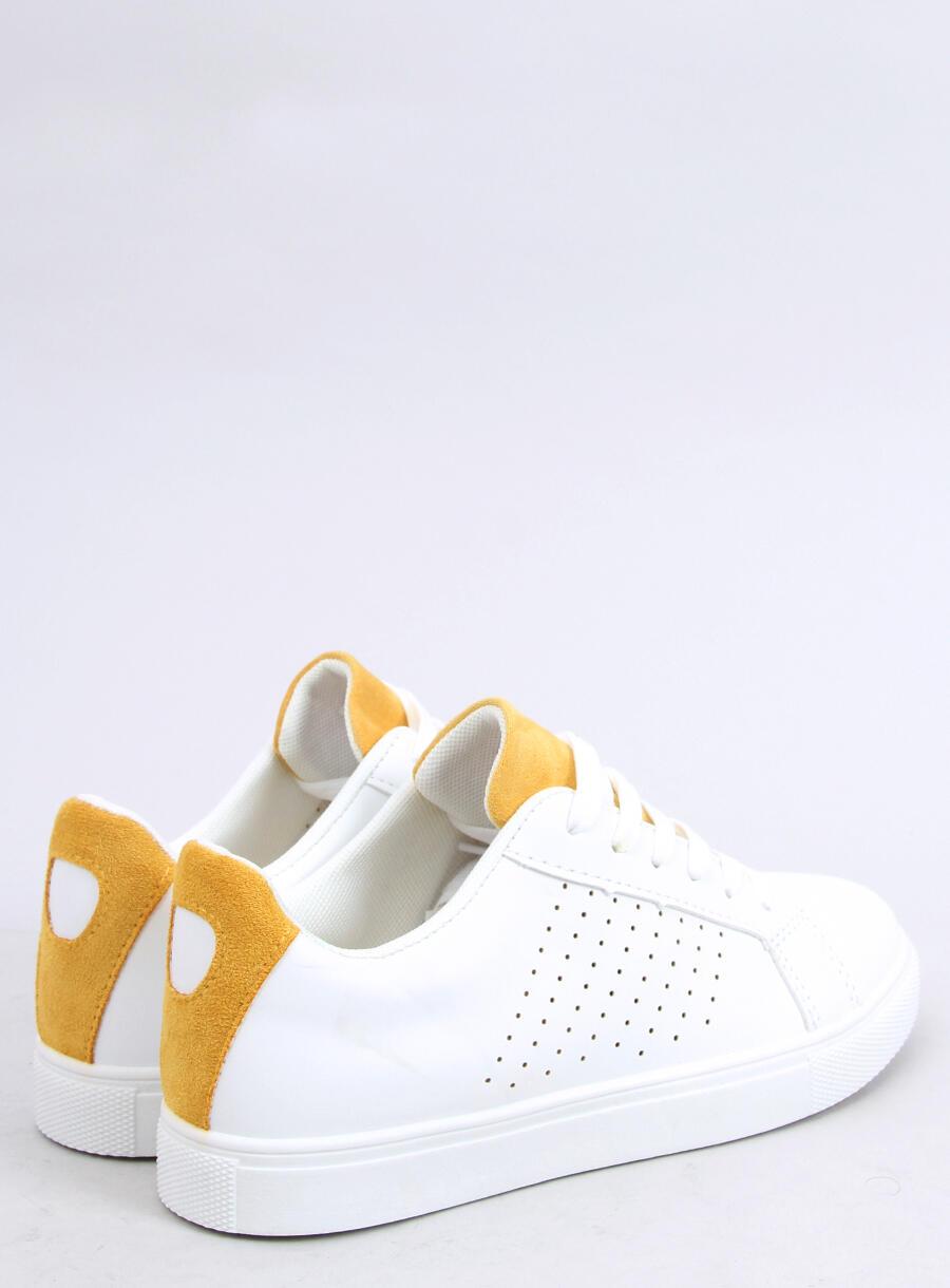 Trampki damskie białe WB807 WHITEYELLOW | Sklep
