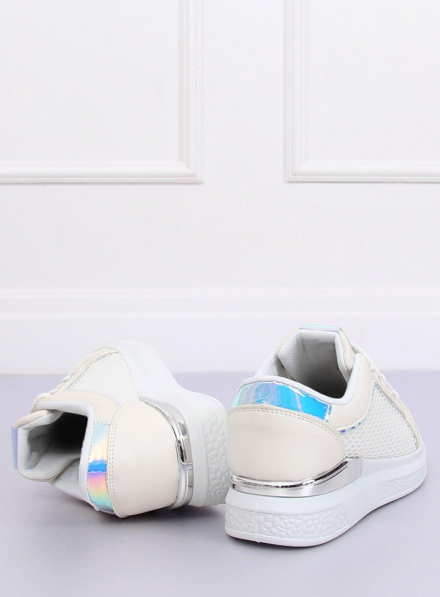 23194d01e1bba Trampki holograficzne białe ZF-40 WHITE | Sklep KupButy.com