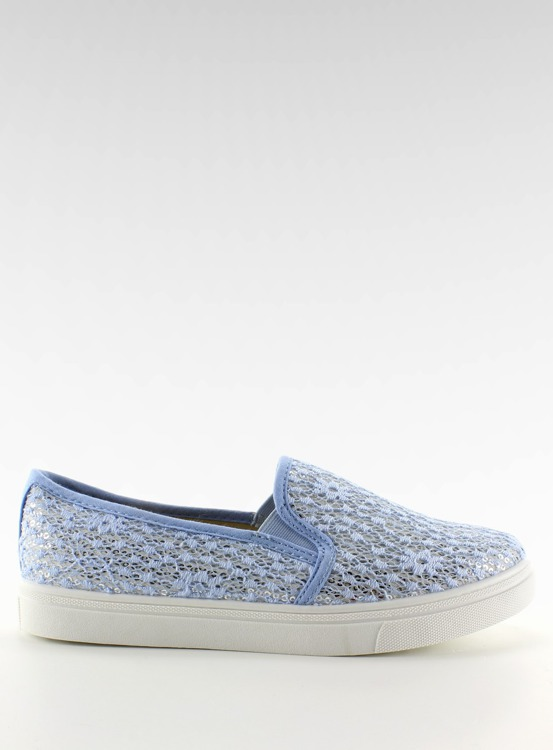 Koronkowe slip-on pastele XIN07P Light blue