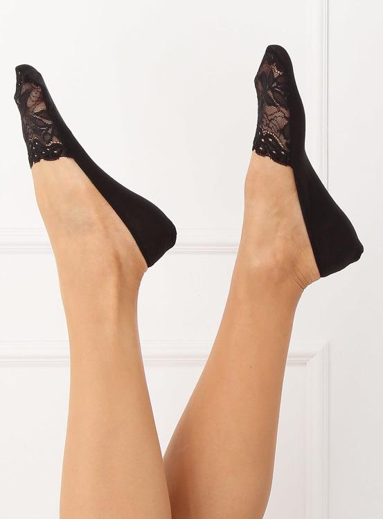 Skarpetki damskie stopki w paski SK-B016 BIAŁY | Sklep